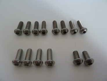 Screw Set Stainless Steel A4 for Kitesurfboards