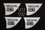 4 Race Fins for Bidi 8x13cm G10